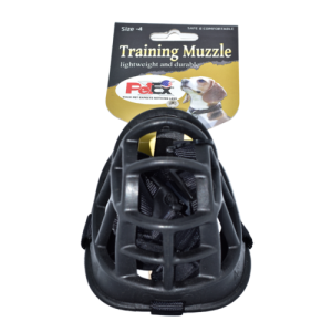 Petex Soft Training Muzzle in Black Color size 4