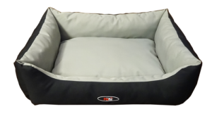 Petex lounger bed gray & black