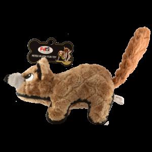 Yellow Weasel Plush Dog Toy Petex