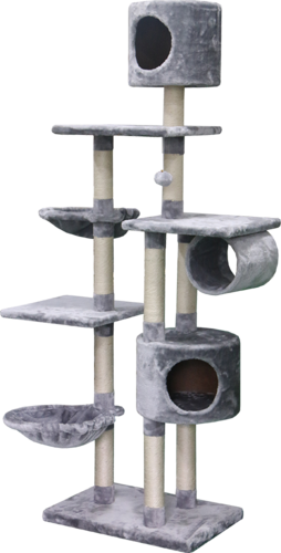 PETEX 4 FLOORS GREY CAT SCRATCHER-PS195