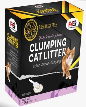 Petex Clumping Cat Litter Scented With Baby powder Aroma 10 kg