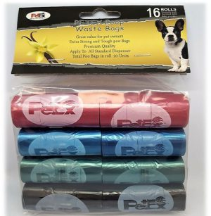 Petex- Pet Poop Bags with an odor of talk baby powder