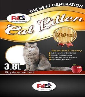 Petex Silica cat litter apple scent