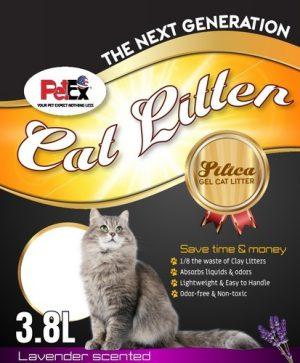 Petex Silica cat litter lavender scent