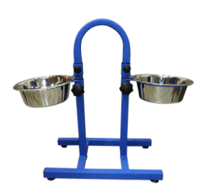 Petex Stainless Steel Feeders -Leather-Touch Blue