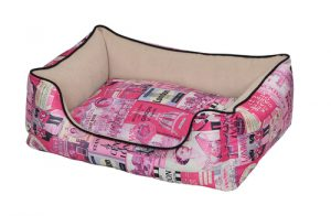 Petex bed for the dog (vintage model) pink color- 60X50X22 cm