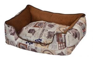 Petex bed for the dog (vintage model) brown color- 60X50X22 cm