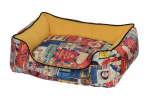 Petex bed for the dog (vintage model) yellow color- 60X50X22 cm