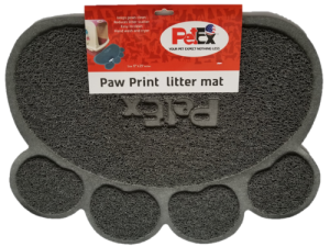 Petex print litter mat Gray color