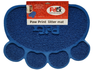Petex print litter mat blue color