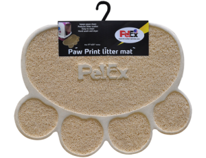 Petex print litter mat cream color