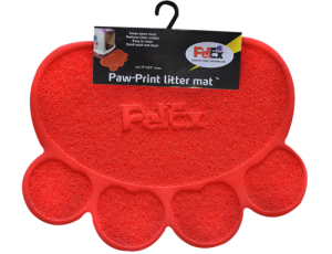Petex print litter mat red color