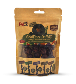Garden Beans Dental snack for dog with fresh chicken broccoli and apple 100 g