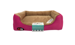 dog bed pink with orthopedic mattress 110×70 cm