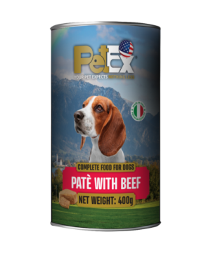 Canned whole foods for dogs with 400g feta beef