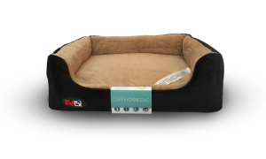 dog bed black with orthopedic mattress 110×70 cm