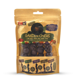 Garden Beans Dental snack for a dog with fresh chicken, purple sweet potato and blueberries 100 grams