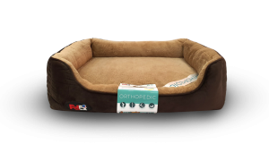 dog bed brown with orthopedic mattress 110×70 cm