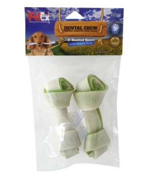 A pair of 5-inch dental contact bones for dogs with the addition of 90 grams of chlorophyll