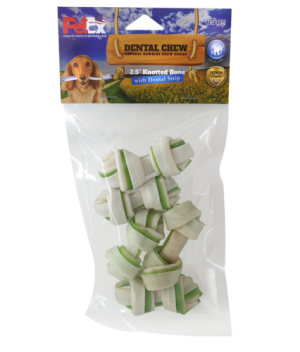 Dental chewing bones for dogs measuring 2.5 inches plus chlorophyll 65 grams