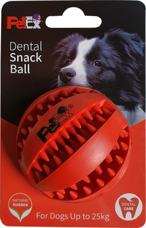 A dental toy ball for a dog from the Patex company with a refreshing mint scent, model ER001