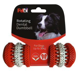 Dental game for dogs with a refreshing mint scent for thorough dental cleaning, model ER013