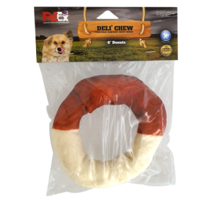 A round buffalo bone for a dog, flavored with a 6-inch natural 100-gram coffee