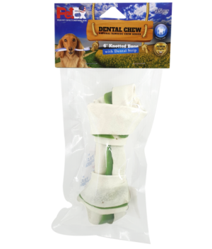 Dental contact bone for dogs measuring 6 inches with the addition of chlorophyll 95 grams