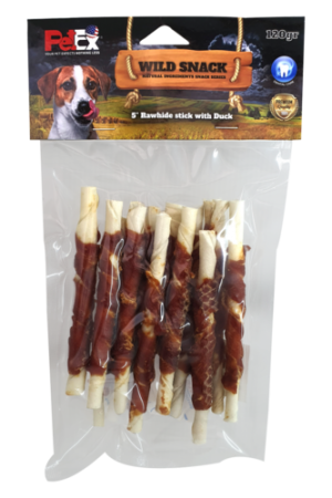 Dog snack with duck meat coating (12 chewing sticks in a package) Total weight 120 grams