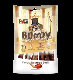 Buddy Snack Calcium bone snack coated in duck meat weighing 80 grams