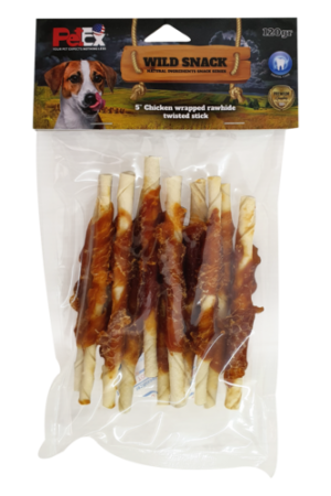 12 selected chewing sticks for the dog in a savings package