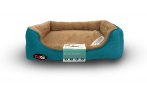 dog bed blue with orthopedic mattress 110×70 cm