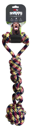 Dental rope game for a dog with a ball and a handle made of selected cotton fibers 47 cm