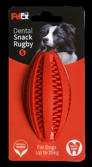 כדור רוגבי דנטלי לכלב באורך 9 סמ עשוי גומי טבעי וחזק דגם ER003 |מידה S