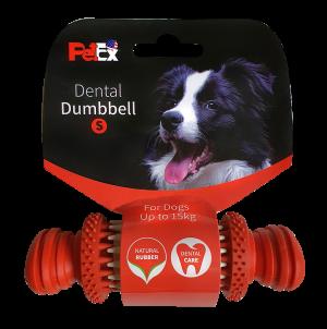עצם דנטלית לכלב בשילוב זיזי משחק מסתובבים דגם ER007| מידה S